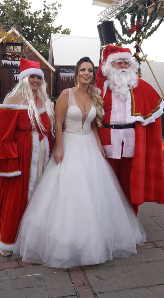 Πρέβεζα: Πανέμορφη νύφη έκλεψε την παράσταση μέσα στο πνεύμα των ημερών