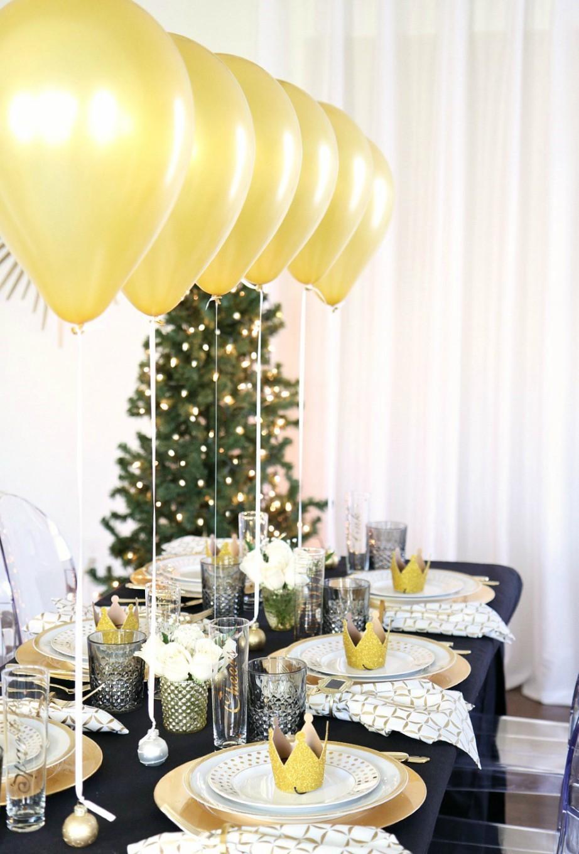 Resultado de imagen de mesa para año nuevo decoración