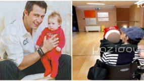 Ο Κωνσταντίνος Αγγελίδης συνάντησε για πρώτη φορά τον γιο του ένα χρόνο μετά το ατύχημα και ράγισαν καρδιές