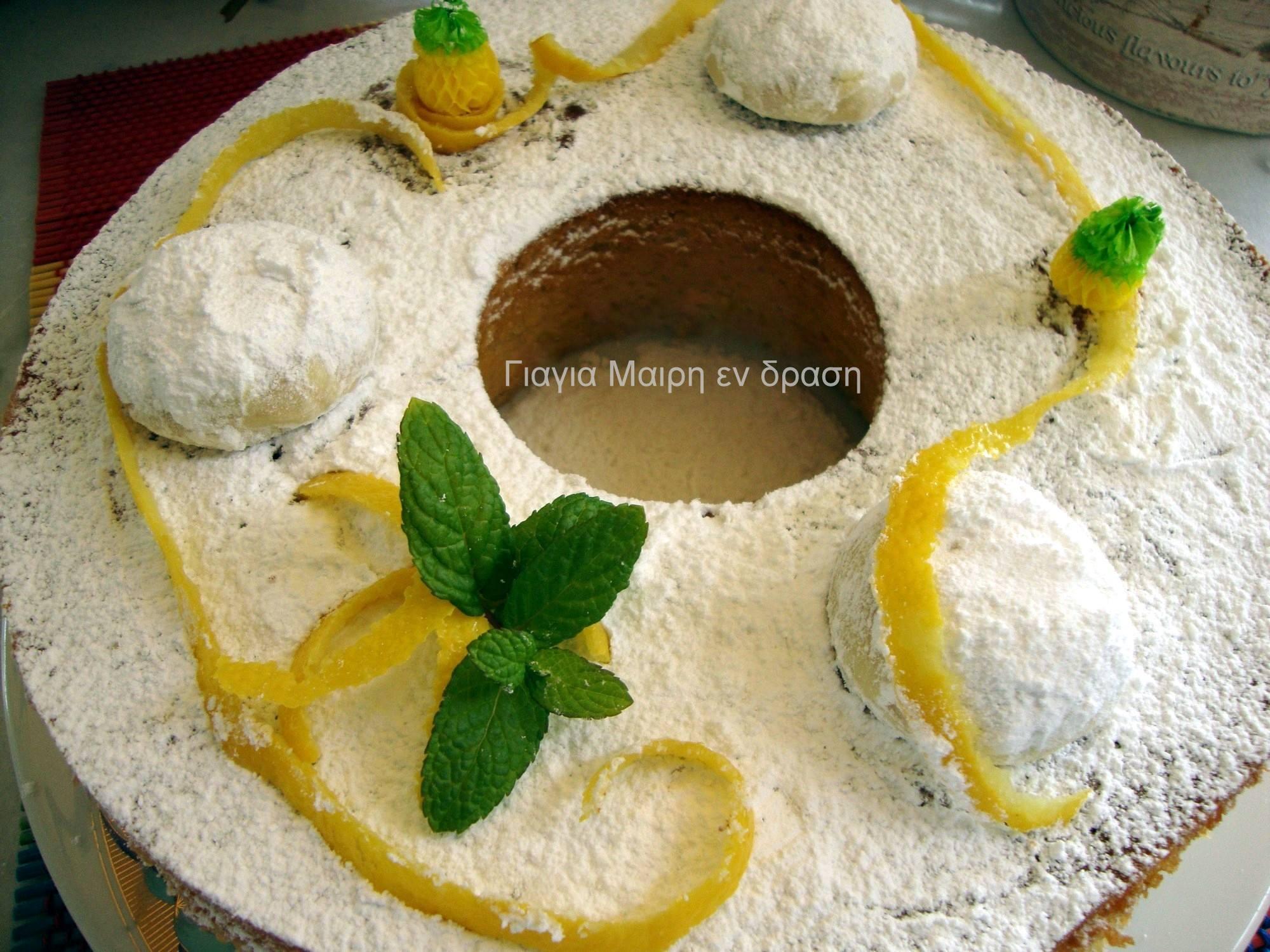 Σας περίσσεψαν κουραμπιέδες; Φτιάξτε Κέικ κουραμπιέ με άρωμα λεμονιού