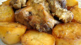Χοιρινό με μουστάρδα και πατάτες