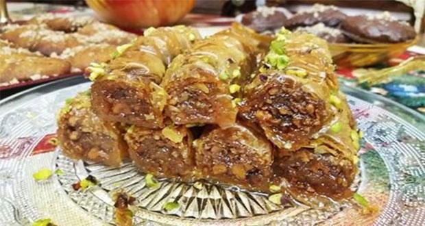 Σιροπιασμένο σαραγλί με ελαιόλαδο και γέμιση καρύδι