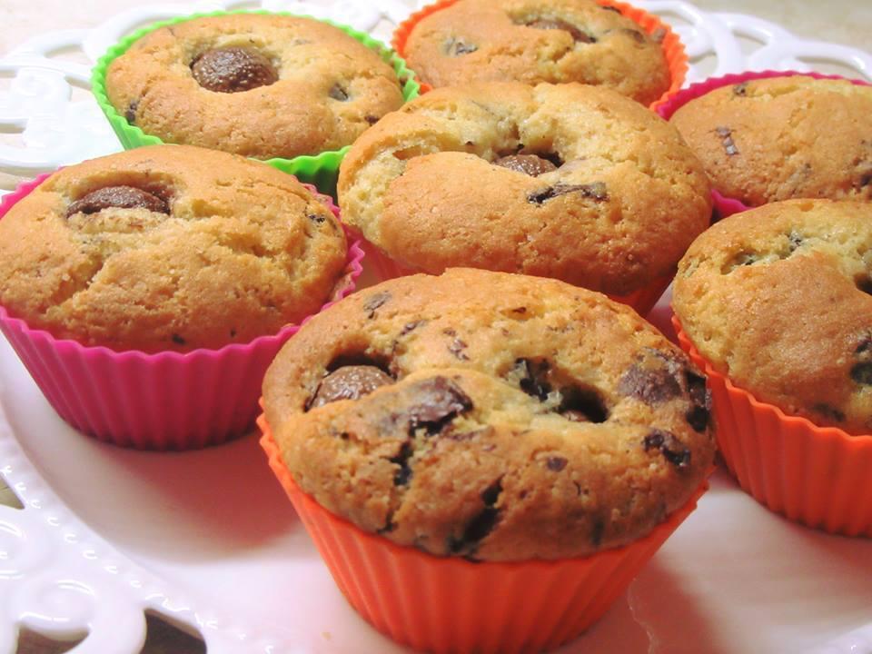 Muffins με γεύση cookies σοκολάτας για το παιδικο πάρτι!