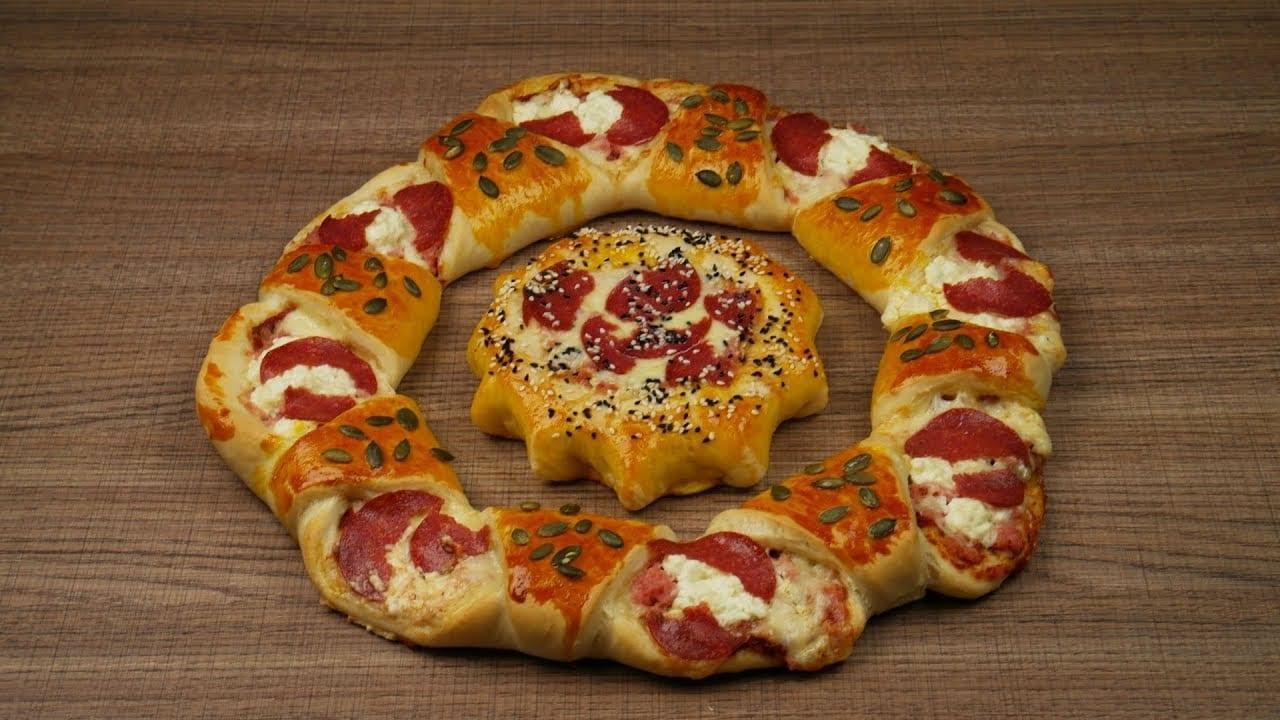 Απίθανη πίτσα με πρωτότυπο σχήμα