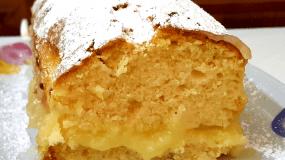 Κέικ λεμονιού με κρέμα λεμόνι (βιντεο)