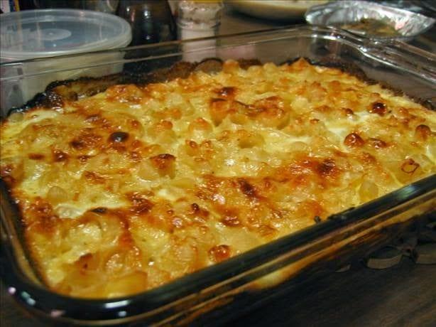 Πανεύκολο σουφλέ ζυμαρικών με τυριά και ντοματίνια