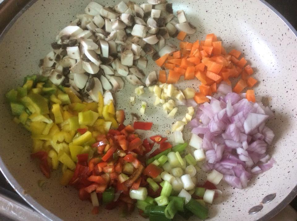 Ταλιατελες με σαλτσα λαχανικων
