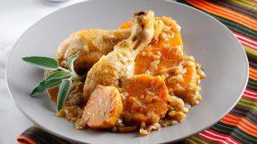 Κοτόπουλο με γλυκοπατάτες στην κατσαρόλα