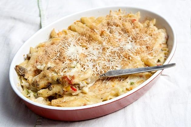 Μακαρονάκι με ψητά λαχανικά και κρέμα τυριού!!