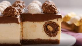 Cheesecake γεμιστό με Ferrero Rocher