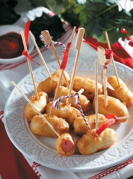 Μίνι hot dogs σε καλαμάκι για παιδικό μπουφε!!!