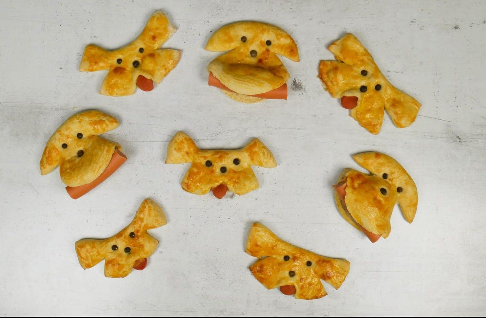 Παιχνιδιάρικα σκυλάκια από ζύμη για παιδικό πάρτυ