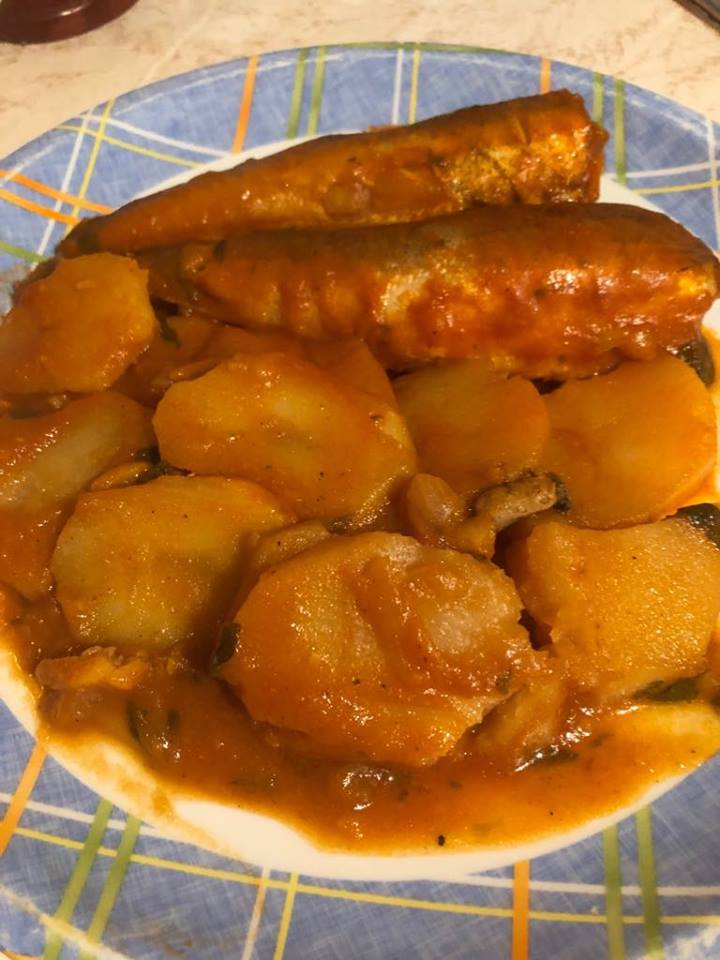 Μπακαλιάρος πλακί με πατάτες