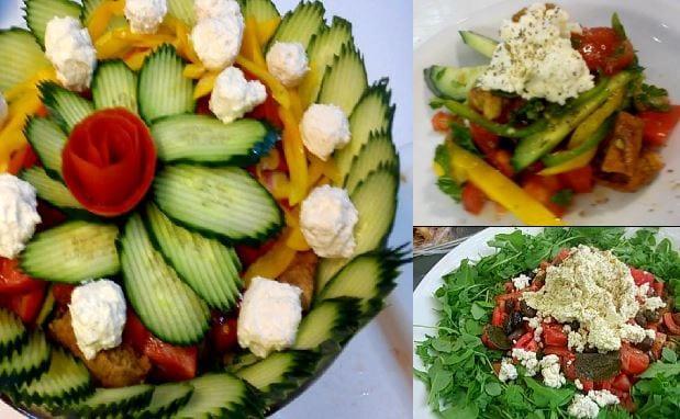 Χωριάτικη σαλάτα με σως φέτας