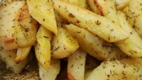 Πατάτες φούρνου με μανταρίνι και μουστάρδα