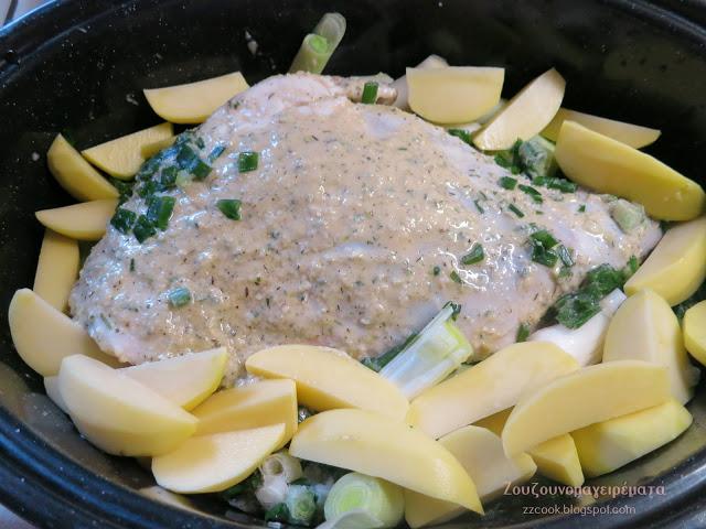 Κατσικάκι γιορτινό με πατάτες!