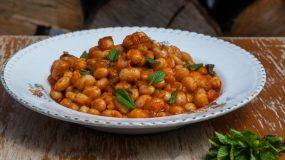Νηστίσιμη συνταγή- Μπαρμπουνοφάσουλα με πελτέ και φρέσκο δυόσμο