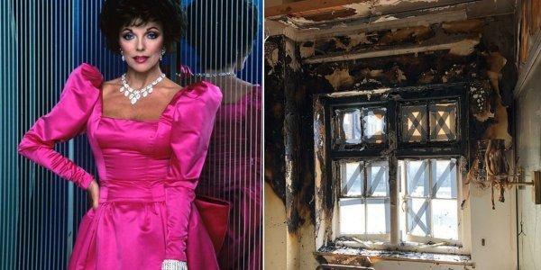 Τζόαν Κόλινς: Κόντεψε να καεί ζωντανή στο διαμέρισμά της στο Λονδίνο
