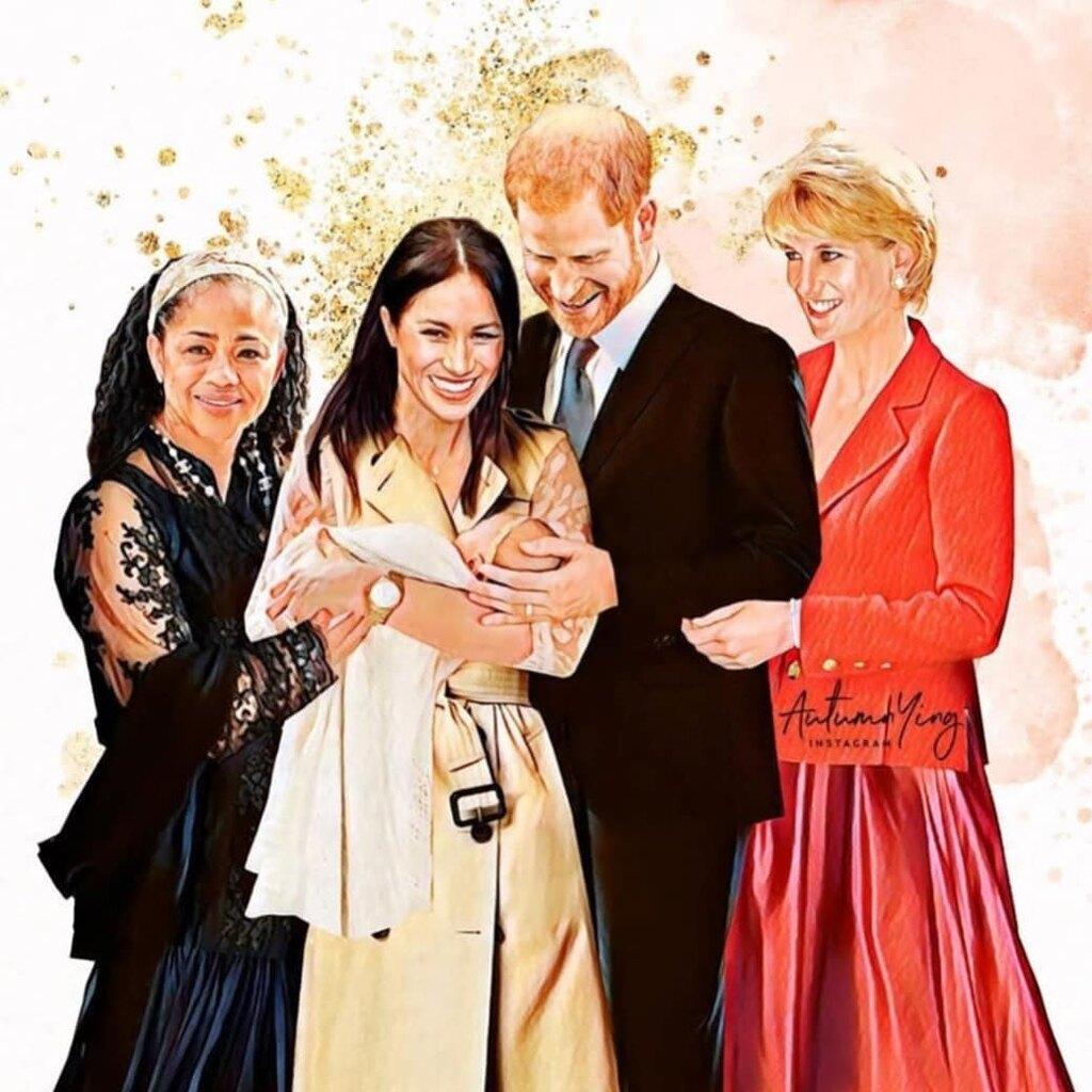 """Το συγκινητικό σκίτσο όπου η πριγκίπισσα Νταϊάνα """"συναντά"""" για πρώτη φορά τον εγγονό της"""