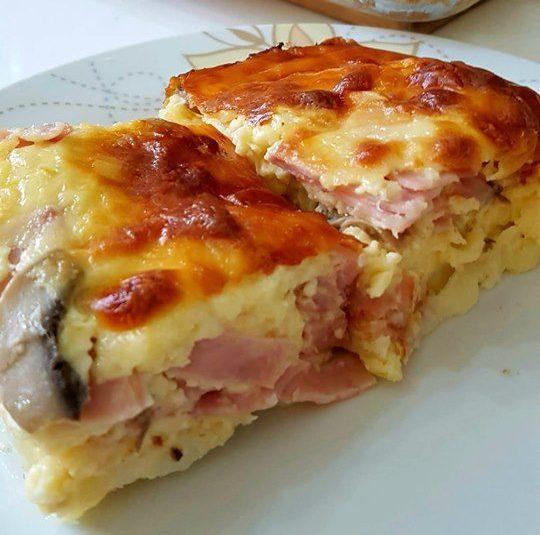 Εύκολο σουφλέ πατάτας με αλλαντικά μανιτάρια και τυρί που θα σας ξετρελάνει!!