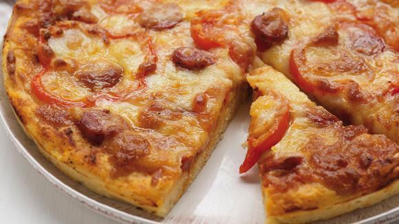 Τυρόψωμο πίτσα όνειρο!
