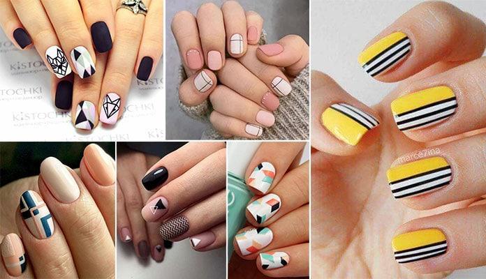 40 ιδέες για νύχια με γραμμικά σχέδια και σχήματα για όλα τα γούστα!