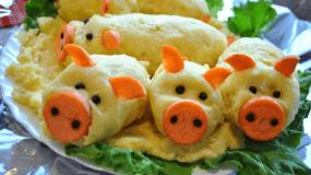 Γουρουνάκια πατάτας για το παιδικό πάρτυ