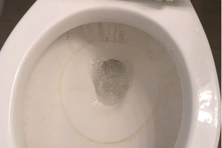 Παίρνει μια ταμπλέτα για το πλυντήριο και την ρίχνει στην τουαλέτα. Θα μείνετε από το αποτέλεσμα