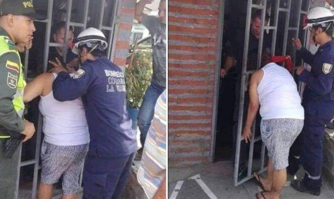 Κουτσομπόλα προσπαθούσε να ακούσει τους γείτονες και σφήνωσε το κεφάλι της στην πόρτα