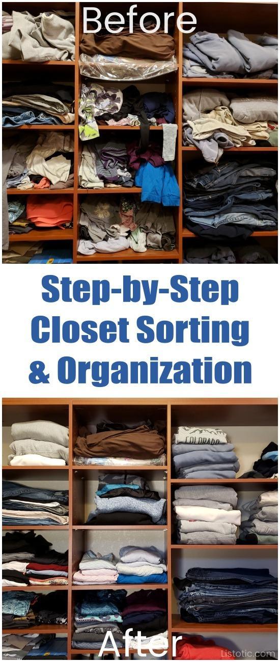Οργανώστε εύκολα την ντουλάπα μέσα από αλά βήματα!