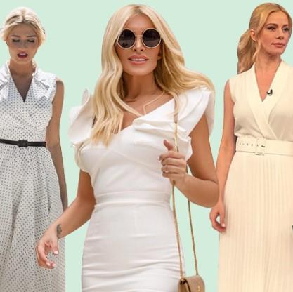 Σκορδά-Μακρυπούλια-Καινούργιου φορούν λευκό φόρεμα και μας προσφέρουν έμπνευση