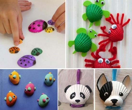 19+1 Φανταστικές και εύκολες κατασκευές με όστρακα για να κάνετε μαζί με τα παιδιά σας!