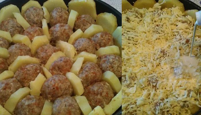 Η συνταγή της ημέρας: Σουφλέ πατάτας με κεφτεδάκια