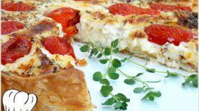 Γρήγορη τάρτα τυριών με σφολιάτα! Τέλεια ιδέα για μπουφέ