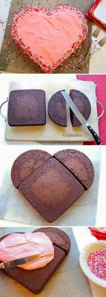 Πως να φτιάξουμε τούρτα καρδιά χωρίς ειδικές φόρμες!