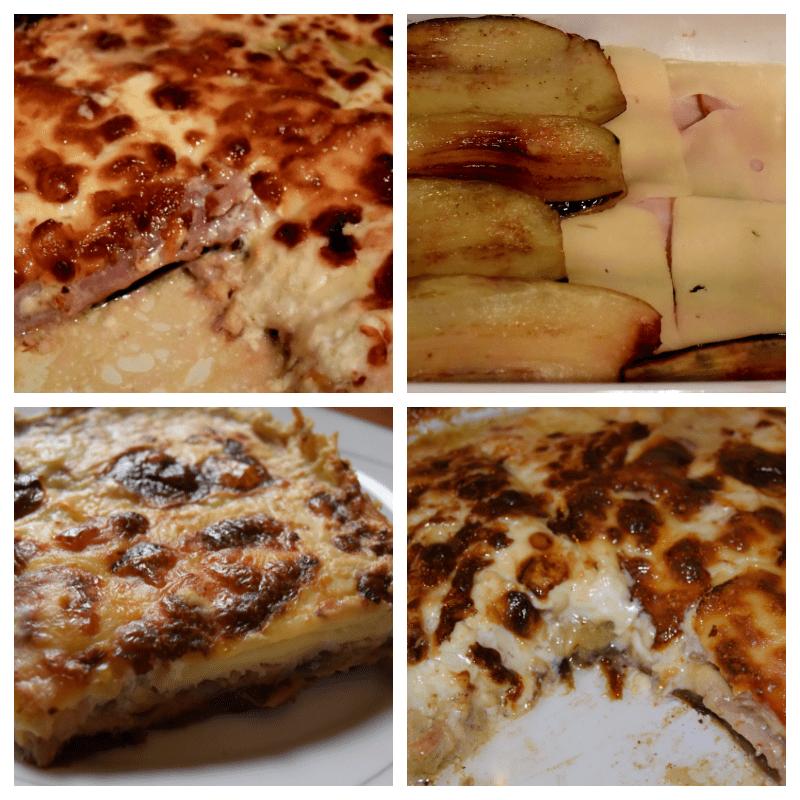 Μελιτζάνες με μπέικον τυρί και κρεμά γάλακτος