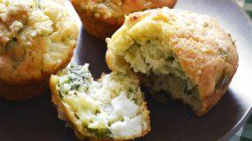 Αλμυρά muffins με σπανάκι και φέτα! Ότι πρέπει για σχολικό κολατσιό!