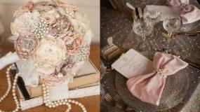 Ιδέες για γαμήλια διακόσμηση με πέρλες- Ρομαντική και vintage