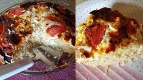 Σπαγγετί φούρνου με ντομάτα και φέτα