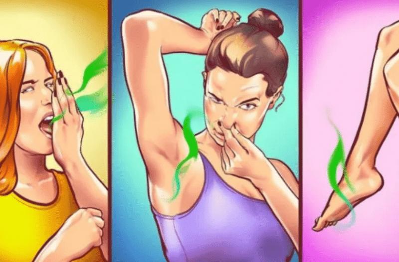 Έχετε έντονη δυσοσμία στα πόδια, τις μασχάλες ή το στόμα; Δείτε τι σημαίνει αυτό για την υγεία σας!