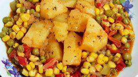 Πατάτες γιαχνί με λαχανικά