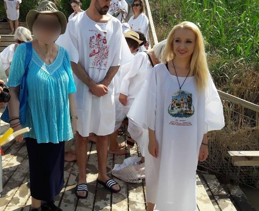 Στον Ιορδάνη Ποταμό αγιάστηκε Ελληνίδα ηθοποιός!