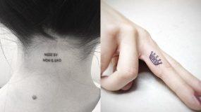 20 Πολύ όμορφες ιδέες για μικρά και διακριτικά τατουάζ που θα λατρέψετε!