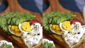 Σάντουιτς με αβοκάντο, ντοματίνια, αυγό και Philadelphia