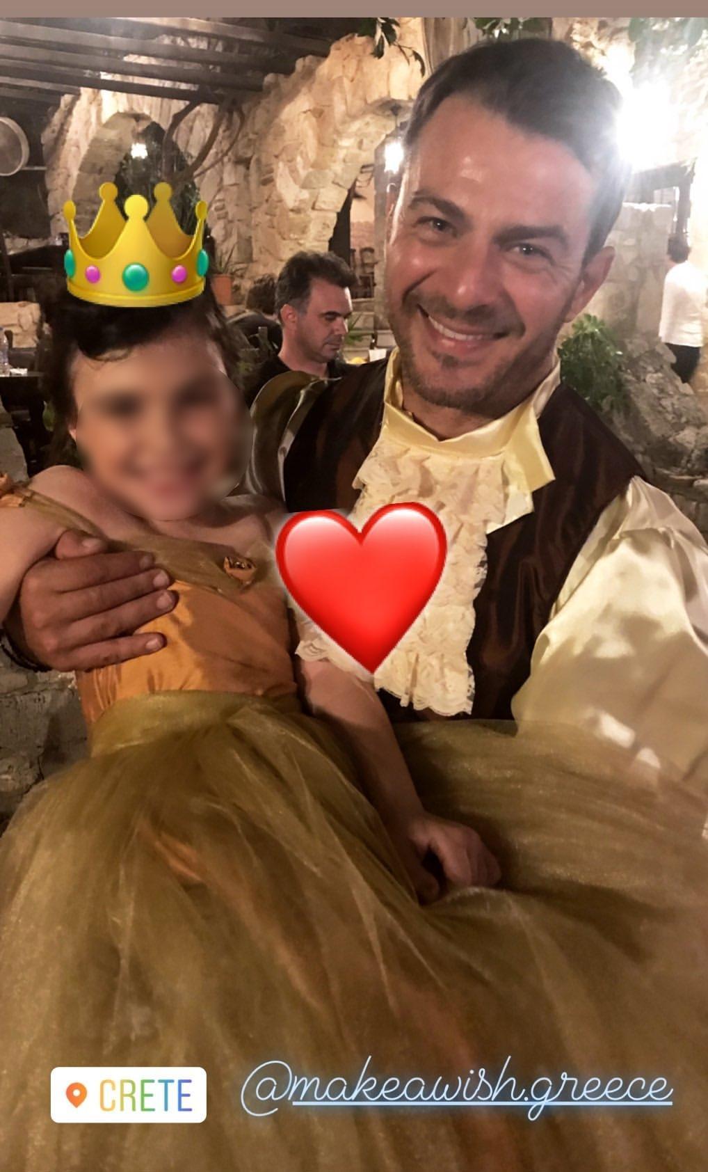 Γιώργος Αγγελόπουλος: Ντύθηκε πρίγκιπας και εκπλήρωσε την ευχή της μικρής Ελένης!