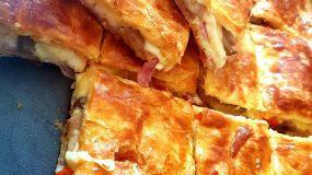 Πίτσα με σφολιάτα πολύ εύκολη και νόστιμη για το παιδικό πάρτι!