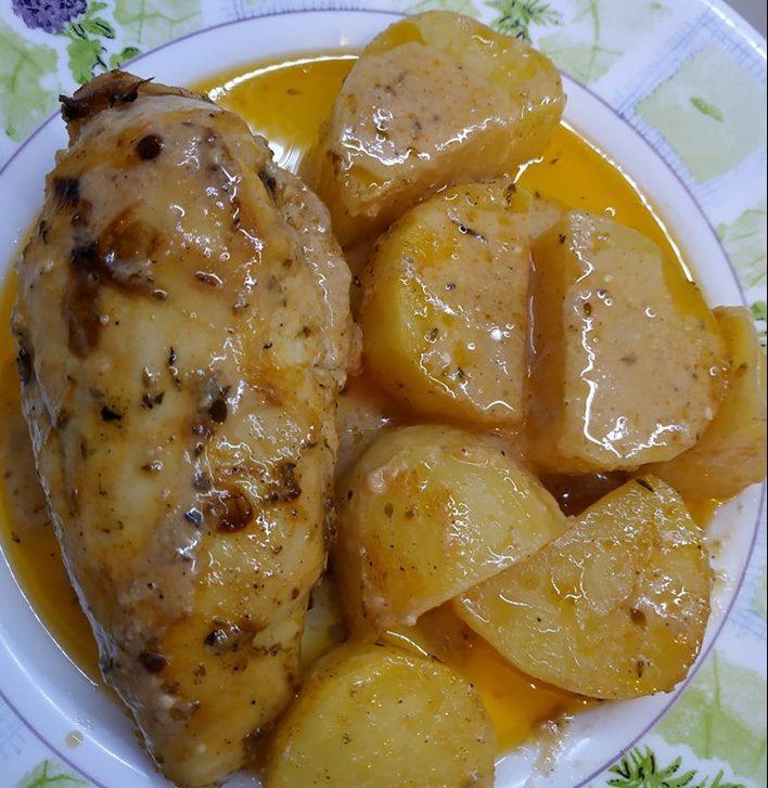 Λεμονάτο κοτόπουλο με γιαούρτι, μέλι και μουστάρδα