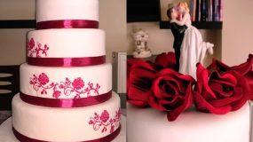 Τετραώροφη τούρτα για γάμο με ζαχαρόπαστα!