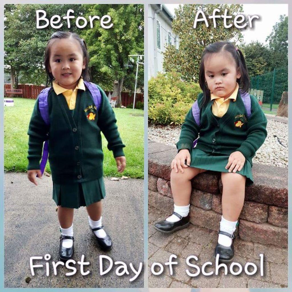 27 ξεκαρδιστικές φωτογραφίες παιδιών πριν και μετά την πρώτη μέρα στο σχολείο. Θα κλάψετε