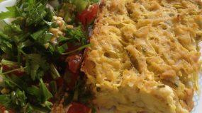 Κολοκυθόπιτα με αμυγδαλόκρεμα και καλαμποκάλευρο | Zucchini and cornmeal pie